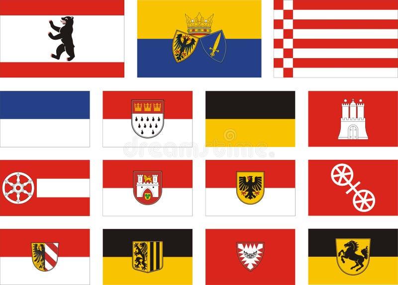 Stadsflaggor av Tyskland stock illustrationer