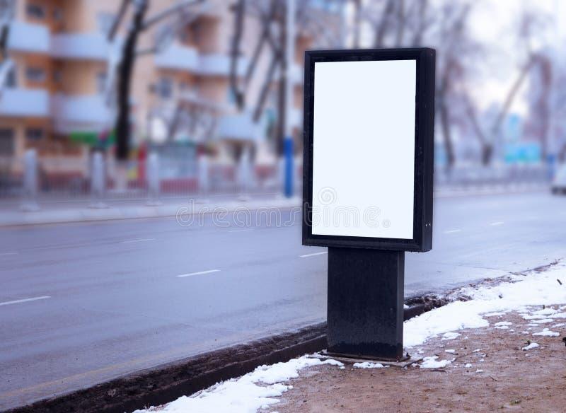 Stadsformat för affisch- och för advertizingaffischtavlor modell royaltyfri foto