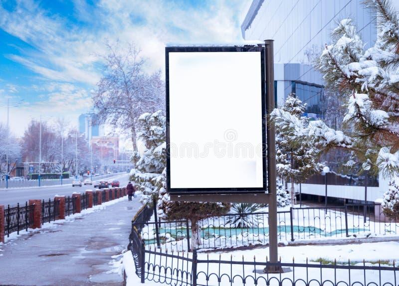 Stadsformat för affisch- och för advertizingaffischtavlor modell arkivfoto