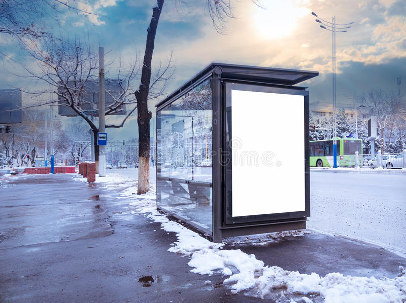 Stadsformat för affisch- och för advertizingaffischtavlor modell royaltyfri bild