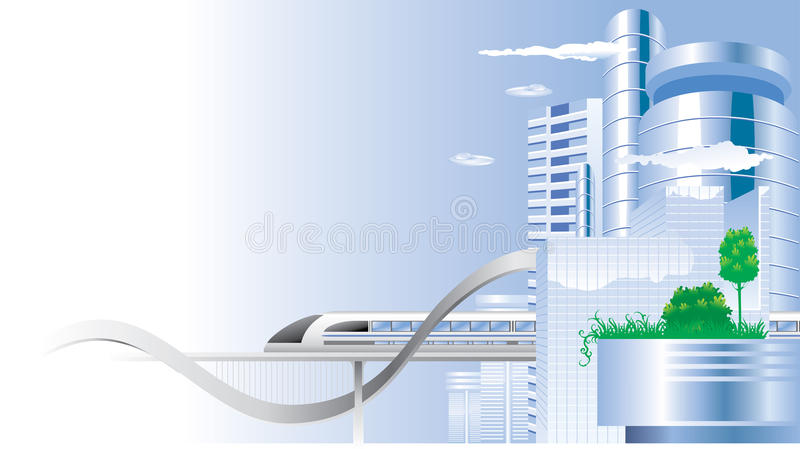 stadsframtid vektor illustrationer
