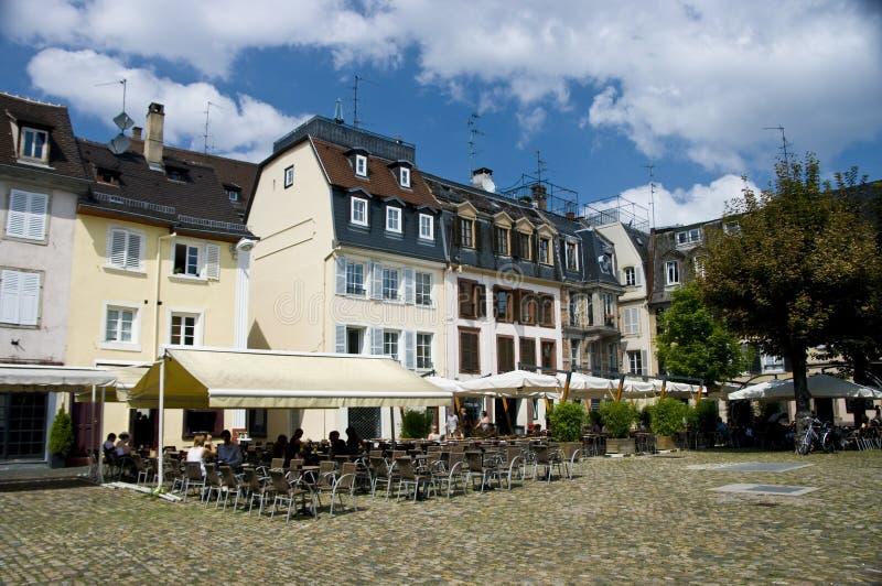 stadsfyrkant strasbourg arkivbild