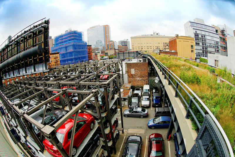 stadsgarage nya parkerande york royaltyfri bild