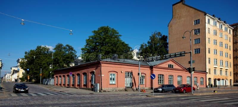 Stadsgata i Helsingfors, Finland arkivfoton