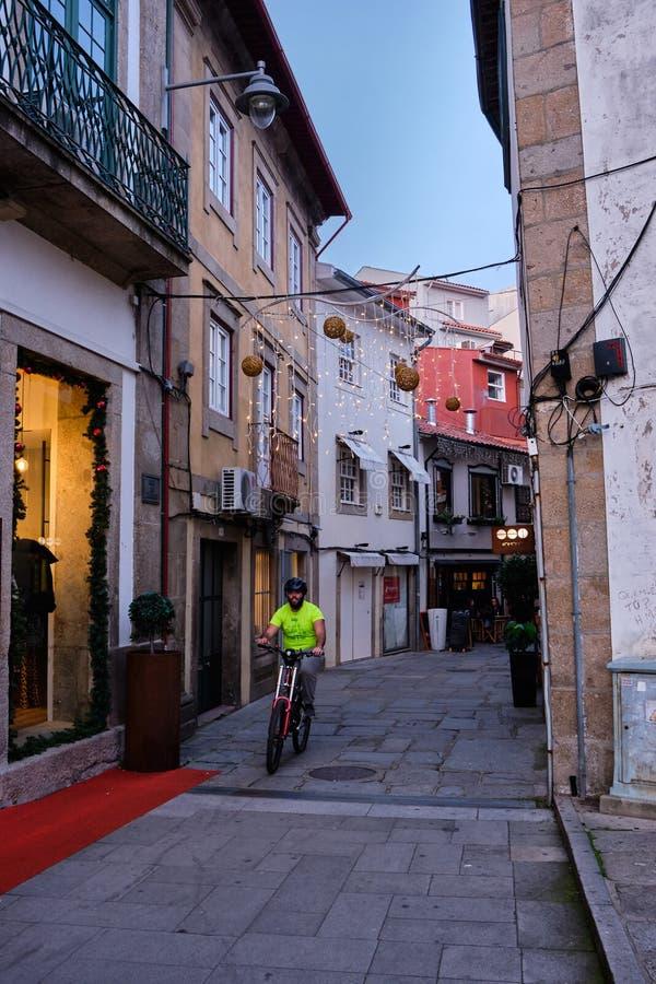 Stadsgator, Braga royaltyfria bilder