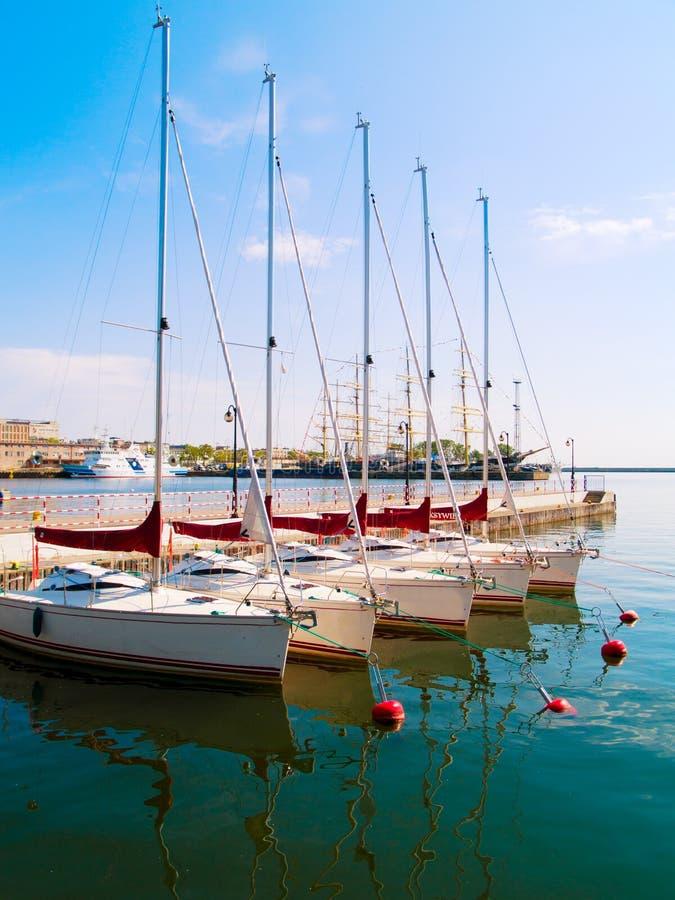 stadsgdynia poland port fotografering för bildbyråer