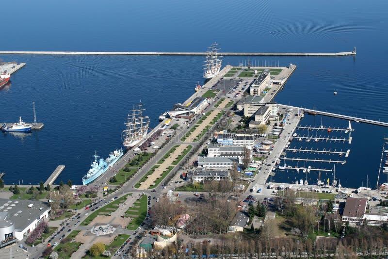 stadsgdynia port arkivfoton
