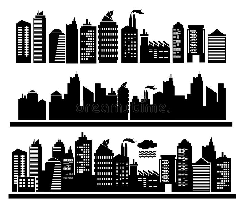 Stadsgebouwen  stock illustratie