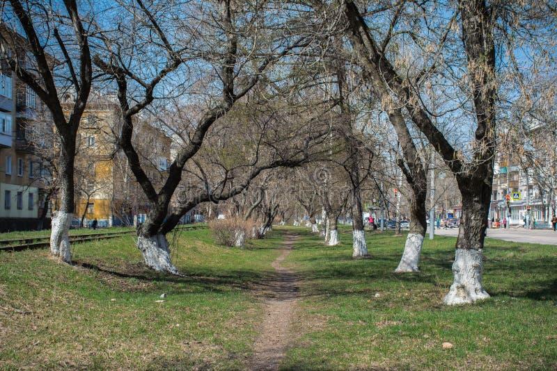 Stadsgränd av Nizhny Novgorod arkivbilder