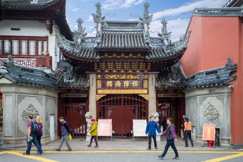 Stadsgudtempel av Shanghai royaltyfria bilder