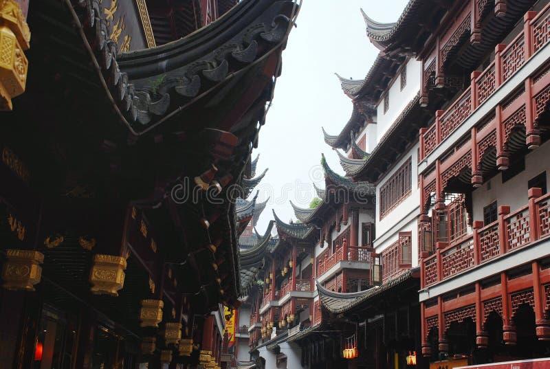Stadsgudtempel i Shanghai royaltyfria bilder