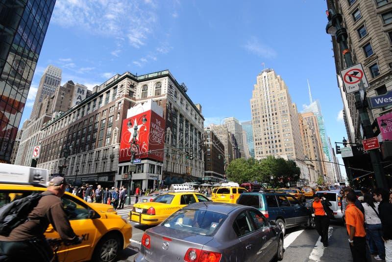 stadshärold nya fyrkantiga york royaltyfri fotografi
