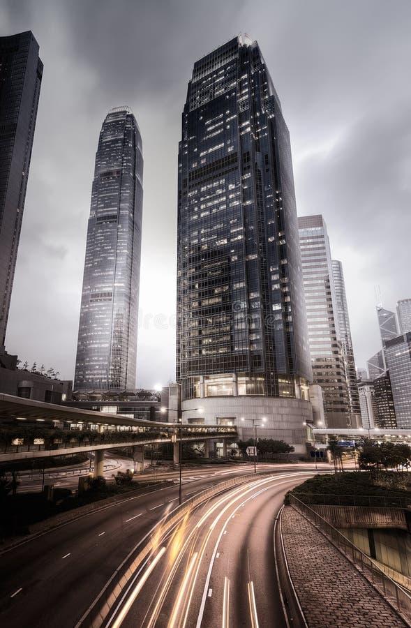 stadsHong Kong horisont royaltyfri bild