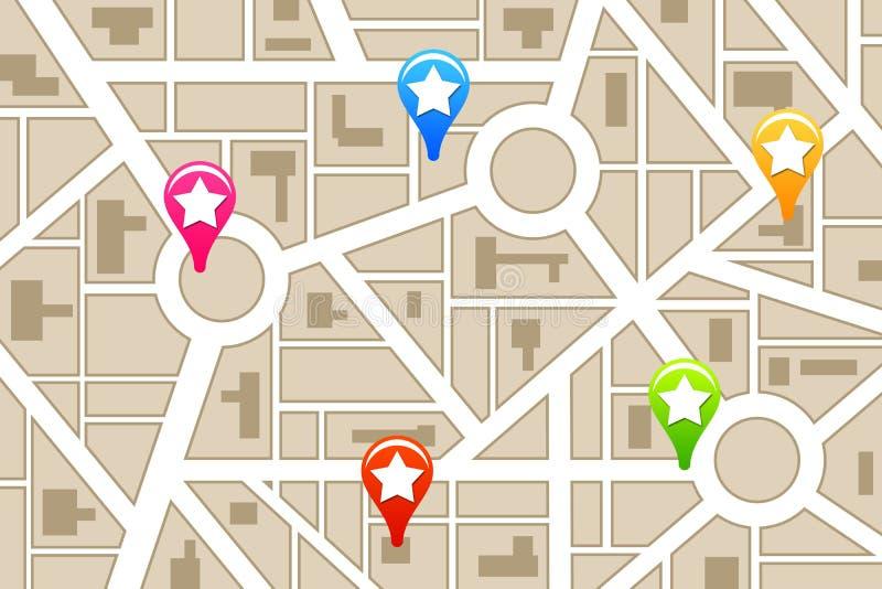 Stadshoogtepunten vector illustratie