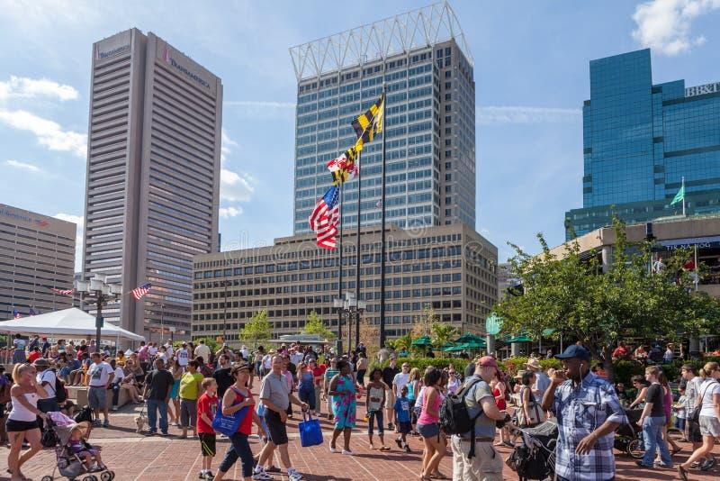 Stadshorisont i den Baltimore staden royaltyfria foton