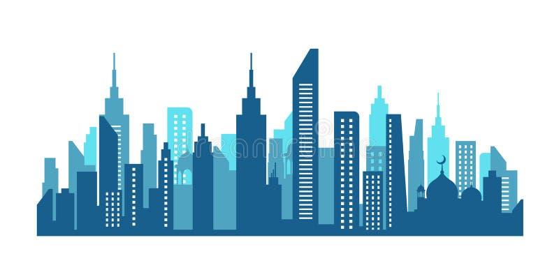 Stadshorisont i NewYork royaltyfri illustrationer