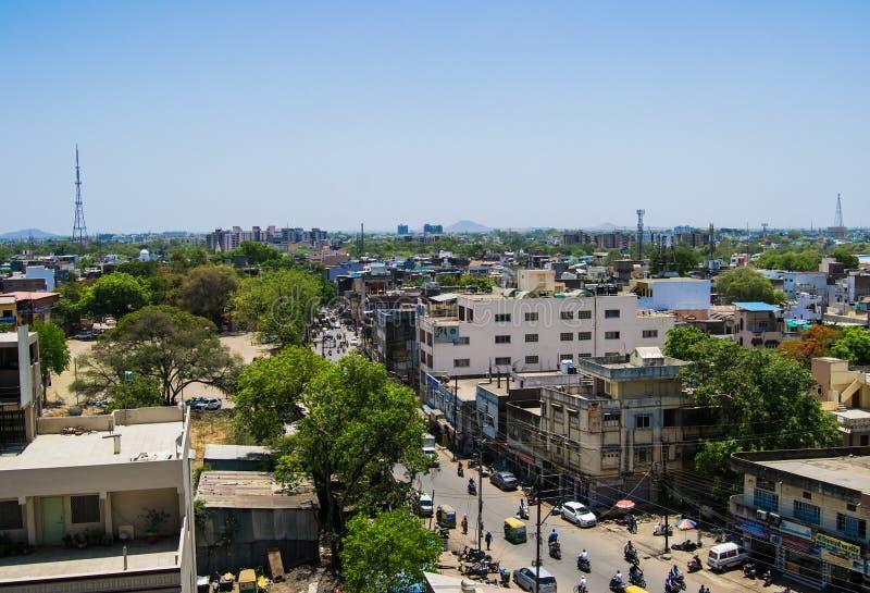 Stadshorisont Indore arkivbilder