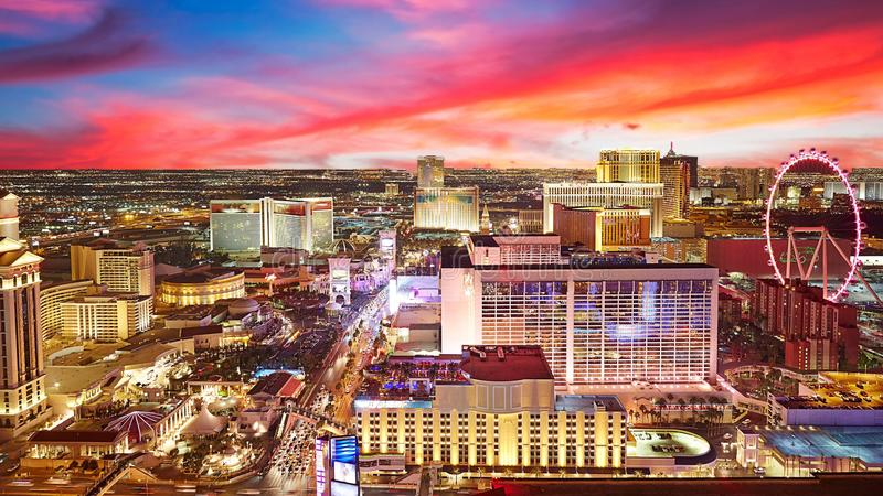 Stadshorisont, Las Vegas royaltyfri fotografi