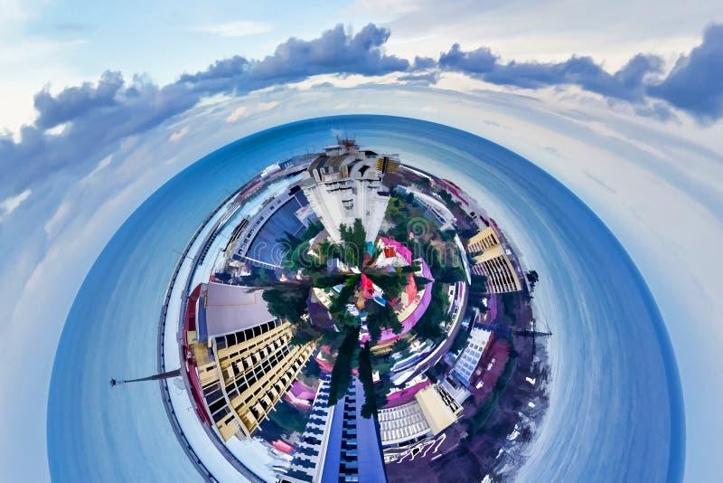 Stadshorisonten av den ryska staden av Sochi fotografering för bildbyråer
