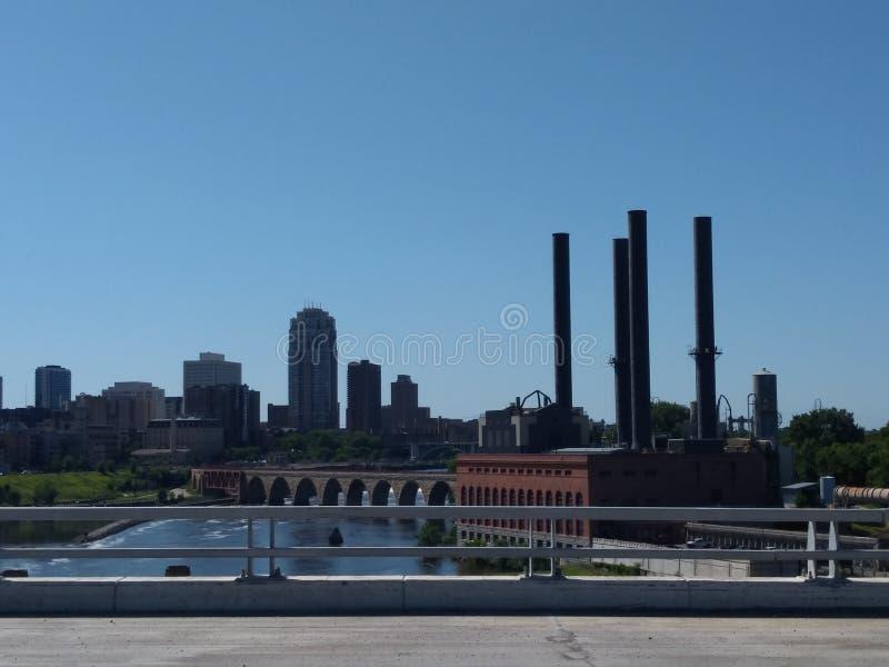 Stadshorizon Minneapolis St Paul Minnesota royalty-vrije stock foto