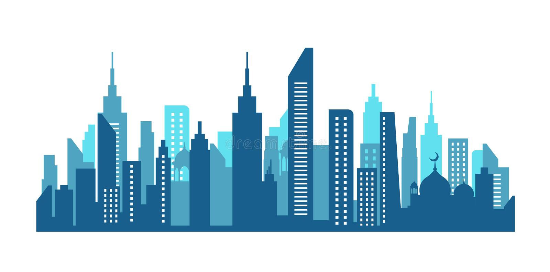 Stadshorizon in New York royalty-vrije illustratie