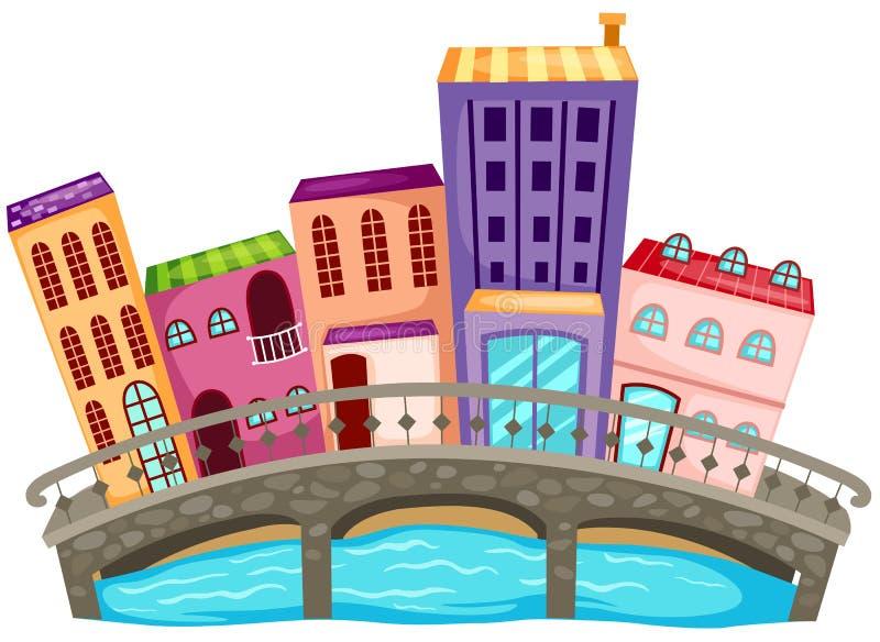 stadshus stock illustrationer