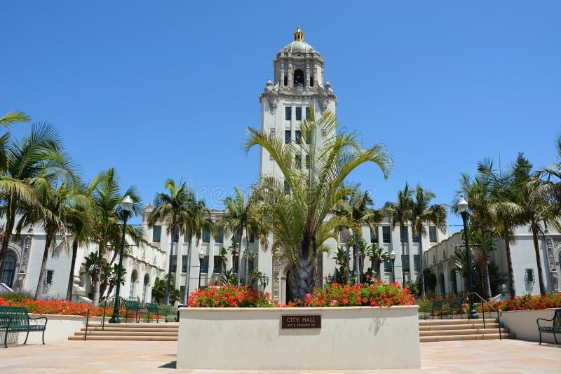 Stadshus av Beverly Hills fotografering för bildbyråer