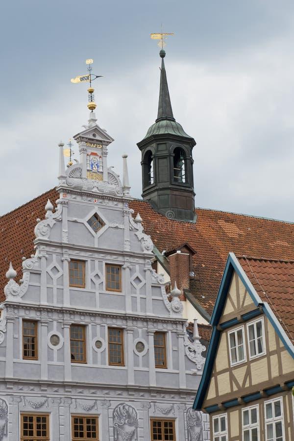 Stadshus av Celle, Tyskland arkivfoton