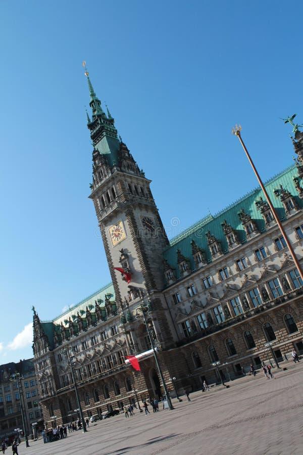 Stadshus av Hamburg arkivbild