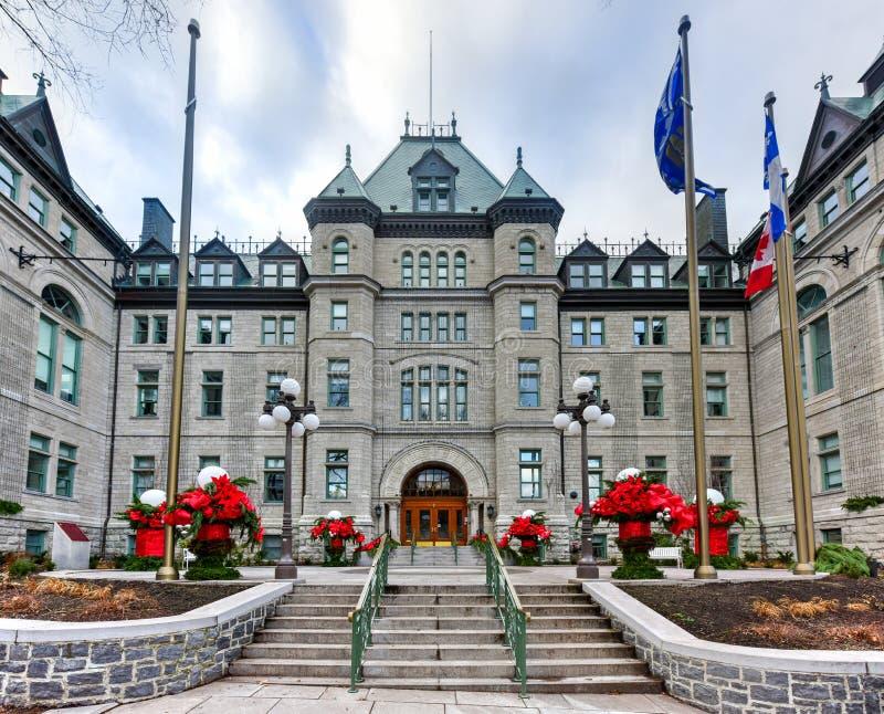 Stadshus av Quebec City fotografering för bildbyråer