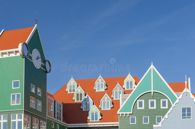 Stadshus av Zaandam Nederländerna fotografering för bildbyråer