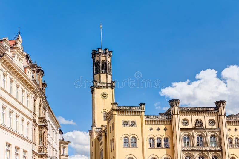 Stadshus av Zittau arkivfoton