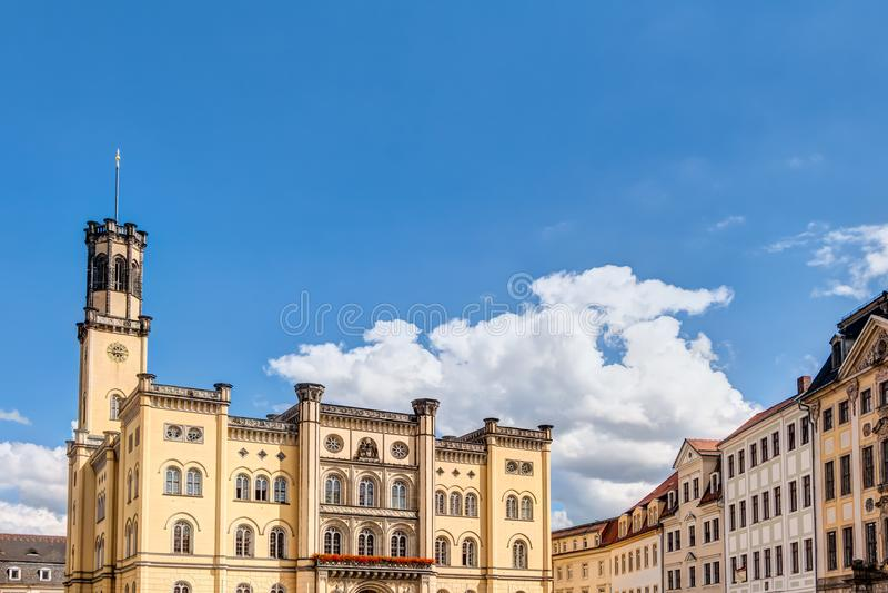 Stadshus av Zittau arkivbilder