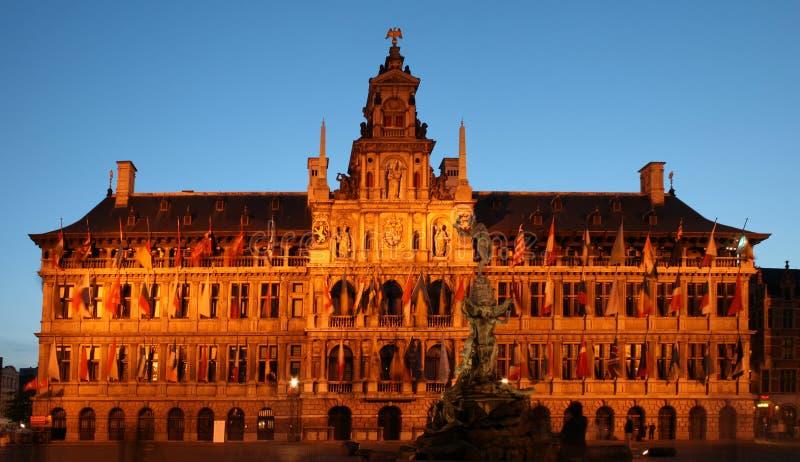 Stadshus i Antwerp arkivfoton