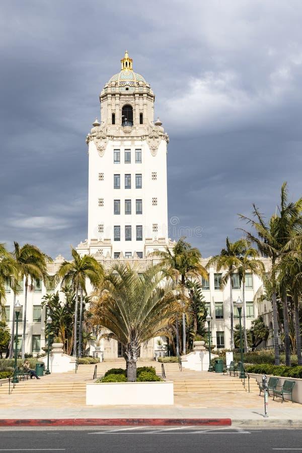 Stadshus i Beverly Hills, Kalifornien arkivbilder