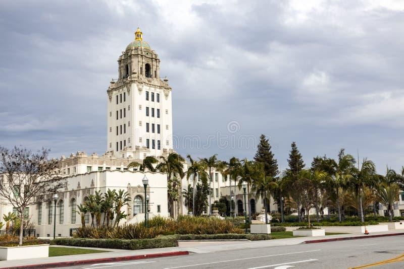Stadshus i Beverly Hills, Kalifornien royaltyfria bilder