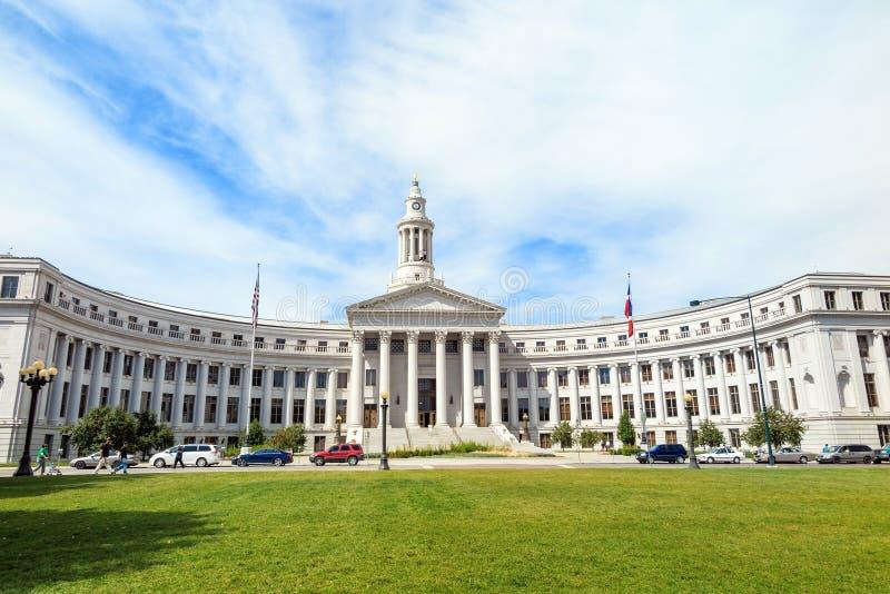 Stadshus i centra av Denver arkivbilder