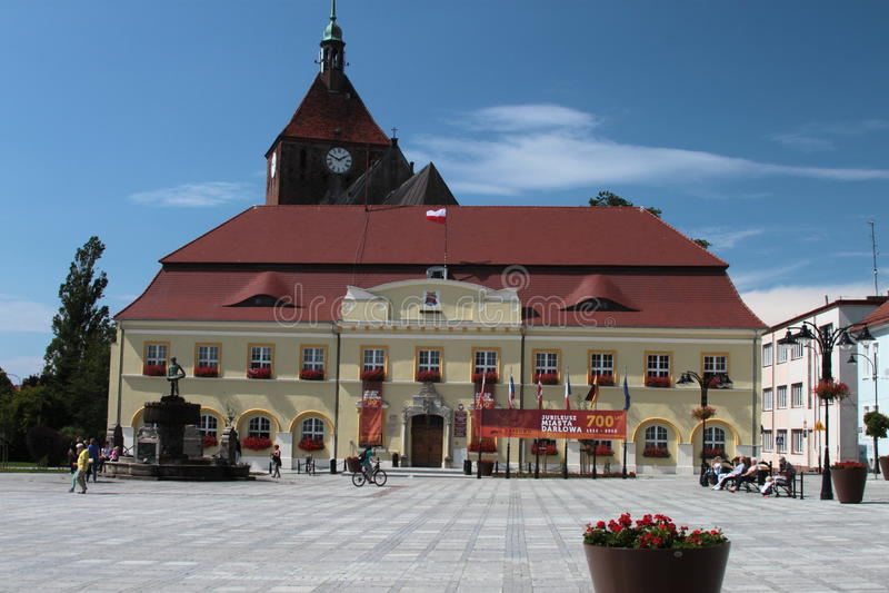 Stadshus i Darlowo royaltyfri foto