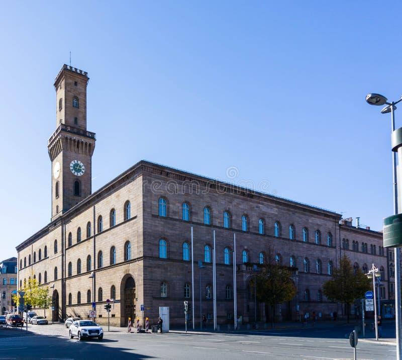 Stadshus i den Bayern för FÃ-¼rth Tyskland arkivbilder