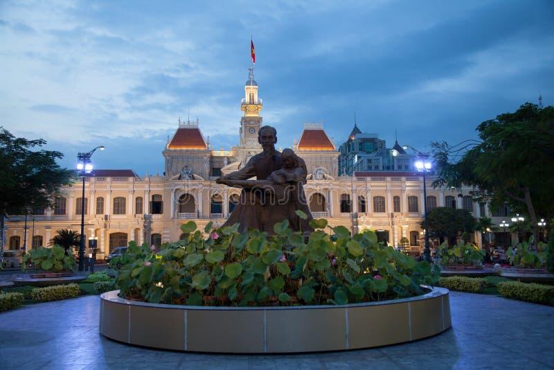 Stadshus i den Ho Chi Minh staden, Vietnam arkivbilder