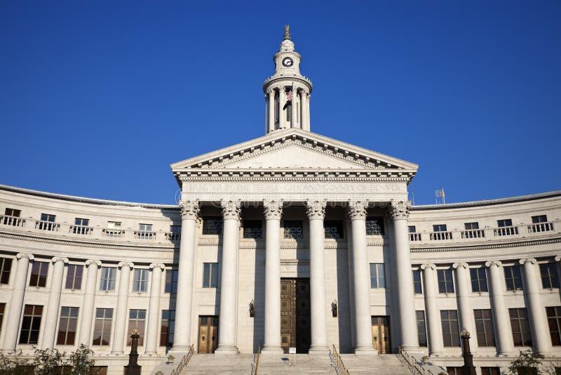 Stadshus i Denver royaltyfria bilder
