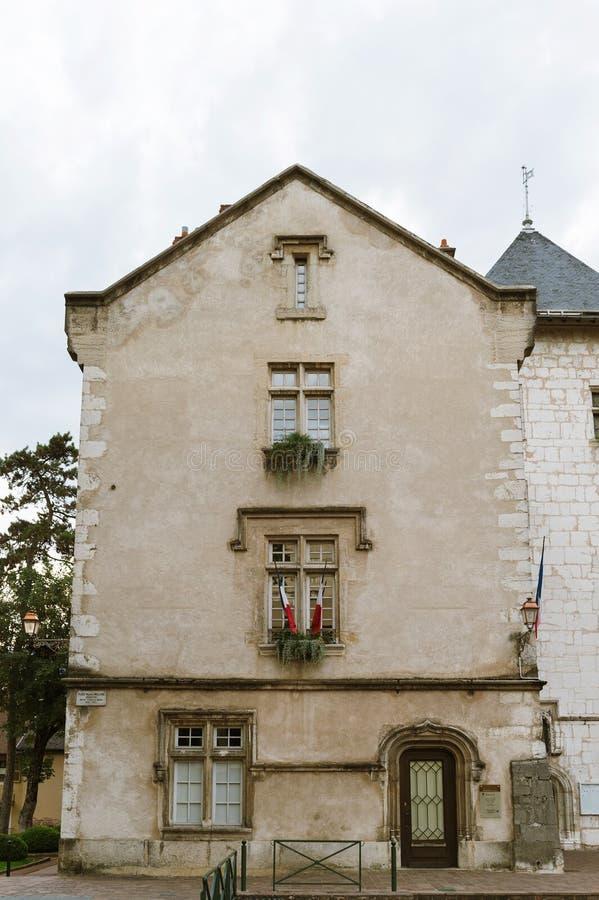 Stadshus i Frankrike, aix-les Bains royaltyfri bild