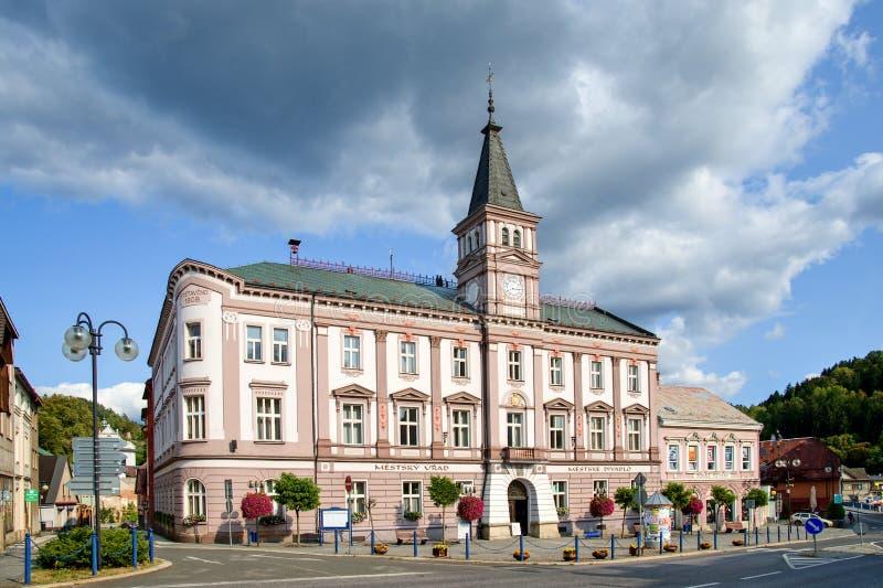 Stadshus i Zelezny Brod fotografering för bildbyråer