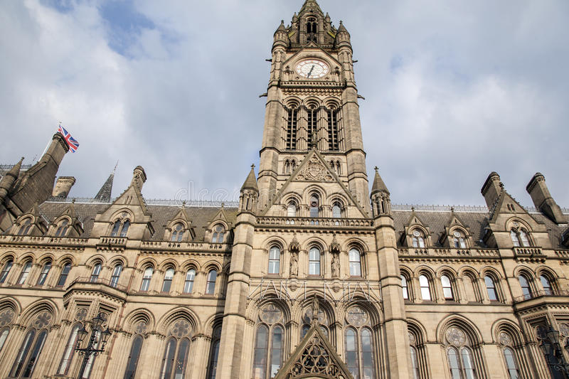 Stadshus Manchester arkivbilder