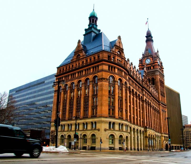 stadshus milwaukee arkivfoton