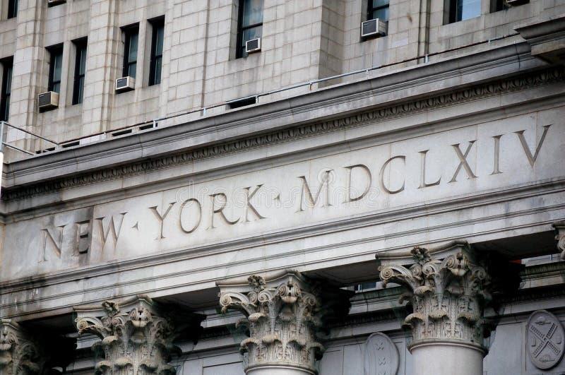 stadshus New York royaltyfri foto