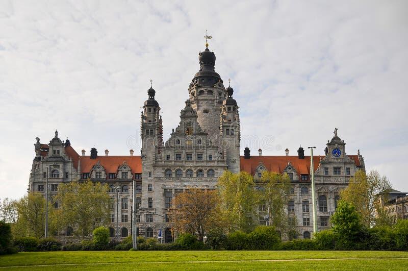 stadshus nya leipzig fotografering för bildbyråer
