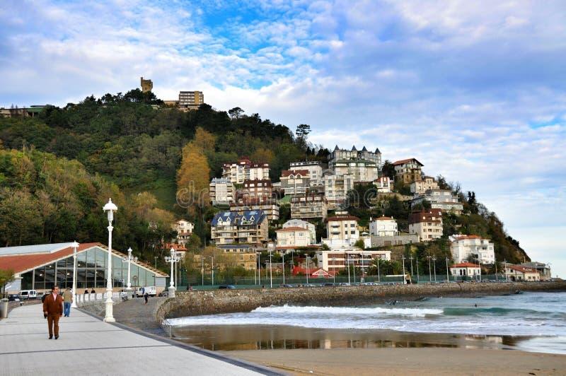 Stadshus San Sebastian, Spanien royaltyfri foto