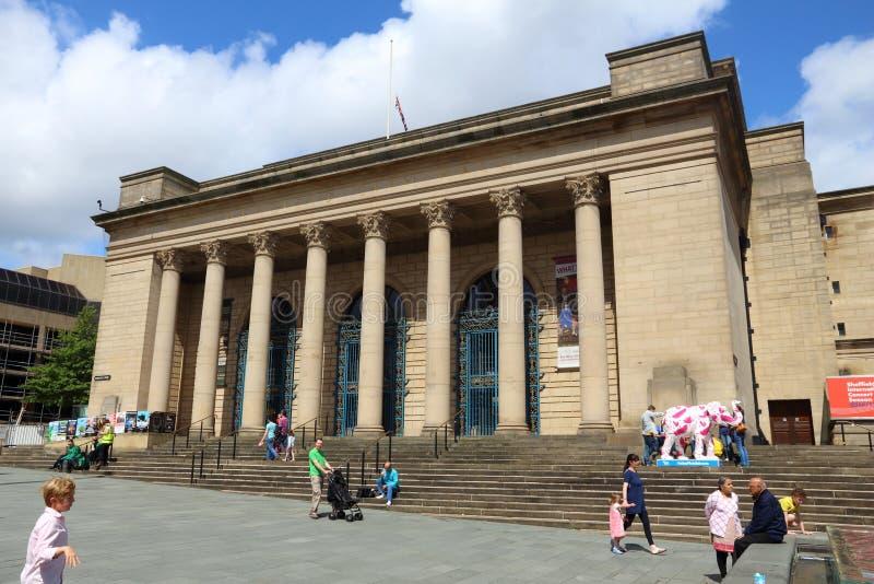 Stadshus Sheffield arkivbild