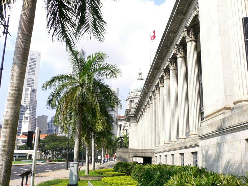 stadshus singapore royaltyfri fotografi